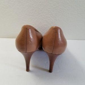 ebf09a22e540 Nine West Shoes - Nine West Tristano Tan Leather Peep Toe Heels Sz 9